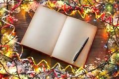 Libro de la Navidad Foto de archivo libre de regalías
