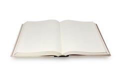 Libro de la paginación en blanco Fotos de archivo