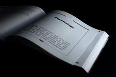 Libro de la psicología Foto de archivo