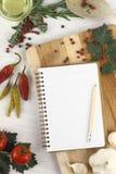 Libro de la receta Fotos de archivo