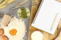 Libro de la receta Foto de archivo libre de regalías