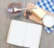 Libro de la receta Imagen de archivo