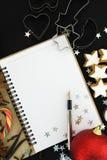 Libro de la receta de la Navidad Fotos de archivo libres de regalías