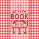 Libro de la receta Tarjeta del vector Fotografía de archivo libre de regalías