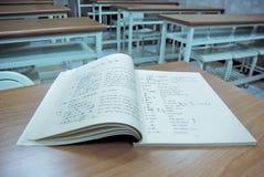 Libro de la sala de clase Imágenes de archivo libres de regalías