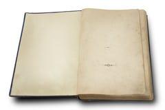 Libro de la vendimia del siglo XVIII Foto de archivo