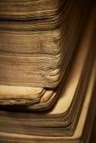 Libro de la vendimia - los bordes de paginaciones. imágenes de archivo libres de regalías