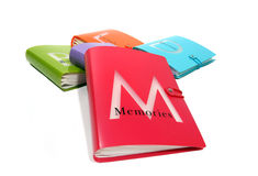 Libro de las memorias fotografía de archivo