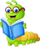 Libro de lectura de Caterpillar Foto de archivo