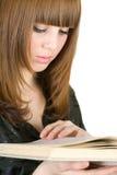 Libro de lectura de la muchacha Fotografía de archivo