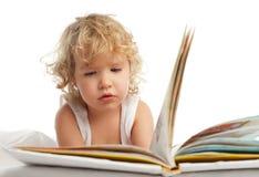 Libro de lectura del bebé Imagenes de archivo