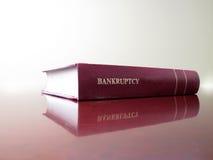 Libro de ley en bancarrota Foto de archivo