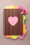 Libro de los corazones para el día de tarjeta del día de San Valentín Imágenes de archivo libres de regalías