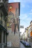 Libro de los tebeos de Broussaille en la calle de Plattesteen Fotos de archivo libres de regalías