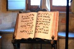 Libro de música imagen de archivo