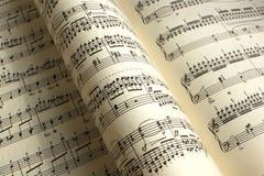 Libro de música imagen de archivo libre de regalías