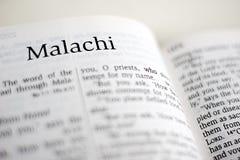 Libro de Malachi Fotos de archivo libres de regalías