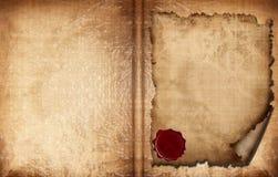 Libro de papel viejo Imagenes de archivo