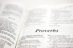 Libro de proverbios Foto de archivo libre de regalías
