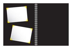 Libro de recuerdos con vector de la ilustración de la foto Fotos de archivo libres de regalías