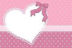 Libro de recuerdos de la tarjeta de las tarjetas del día de San Valentín Imágenes de archivo libres de regalías