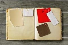 Libro de recuerdos de la vendimia Fotografía de archivo
