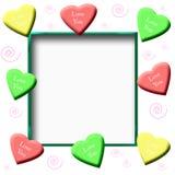 Libro de recuerdos de los corazones del caramelo Imagenes de archivo