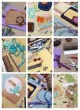 Libro de recuerdos del collage Fotos de archivo libres de regalías