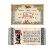 Libro de sello del enlace de defensa de los años 40 de la vendimia Fotos de archivo