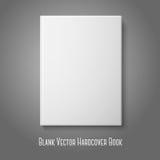 Libro de tapa dura en blanco blanco delantero realista Vector Imagen de archivo