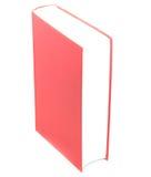 Libro de tapa dura rojo en blanco aislado en el fondo blanco fotos de archivo libres de regalías