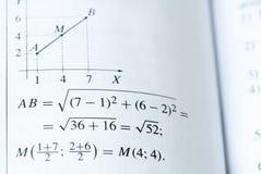 Libro de texto de las matemáticas Imagen de archivo libre de regalías
