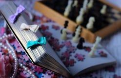 libro del ajedrez Fotos de archivo