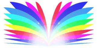 Libro del arco iris stock de ilustración