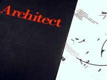 Libro del arquitecto Imagen de archivo libre de regalías
