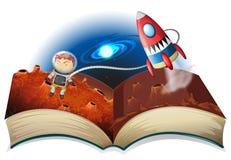 Libro del astronauta Foto de archivo libre de regalías