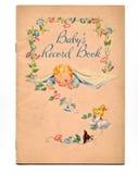 Libro del bebé de la vendimia Imagenes de archivo