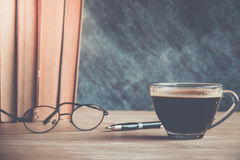 Libro del café Fotos de archivo