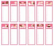 Libro 2016 del calendario del dolce Immagine Stock
