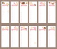 Libro 2016 del calendario delle tazze Fotografia Stock