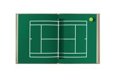 Libro del campo de tenis Imagen de archivo