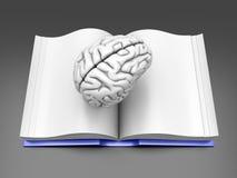 Libro del cerebro Fotos de archivo libres de regalías