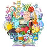 Libro del conocimiento para la ciencia stock de ilustración