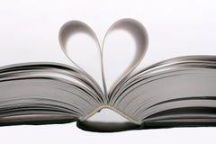 Libro del corazón Fotografía de archivo libre de regalías