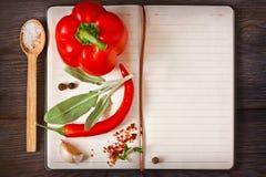 Libro del cuoco. immagini stock libere da diritti