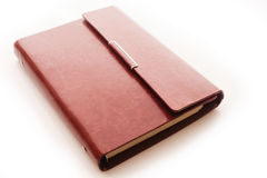 Libro del cuoio di Brown Fotografia Stock