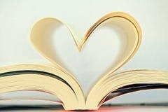 Libro del cuore Immagine Stock