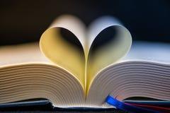 Libro del cuore Fotografia Stock