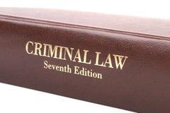 Libro del derecho penal Imagenes de archivo
