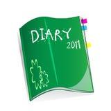 Libro del diario Imagen de archivo